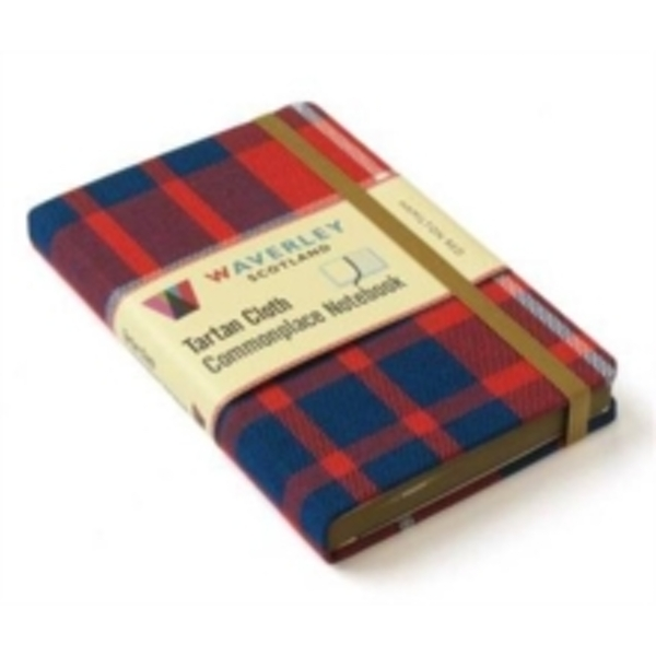 Hamilton Red: Waverley Genuine Tartan Cloth Commonplace Notebook by Waverley Books (Hardback, 2016)