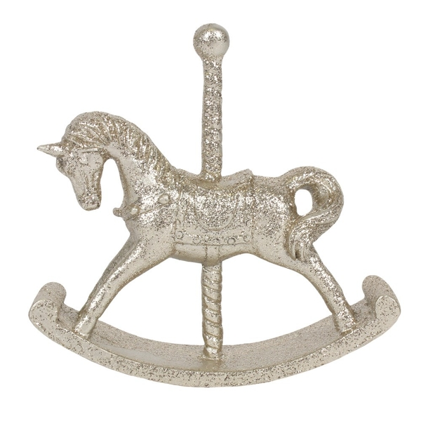 Champagne Rocking Horse Ornament (Small)