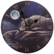 Quiet Reflection Wolf Decorative Wall Clock