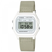 Casio W-59B-7AVEF Casual Digital Watch with White Case & Grey Cloth Strap