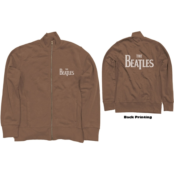 The Beatles - Drop T Logo Unisex Large Track Top - Brown