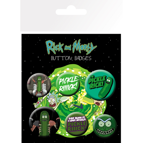 Rick and Morty Pickle Rick Badge Pack