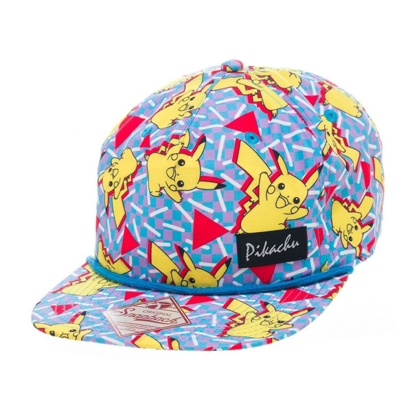 Hey! Stay with us... Pokemon Pikachu All Over Multicoloured Snapback Cap bc9efe4a0aaf