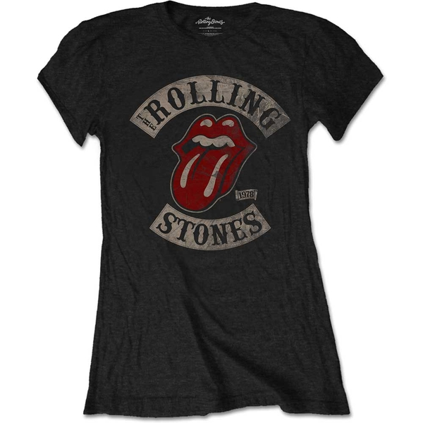 The Rolling Stones - Tour 1978 Women's Small T-Shirt - Black