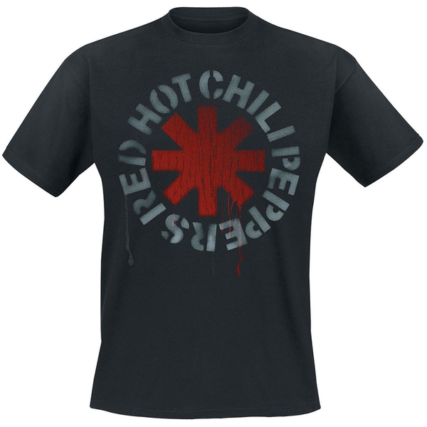 Red Hot Chili Peppers - Stencil Unisex XX-Large T-Shirt - Black