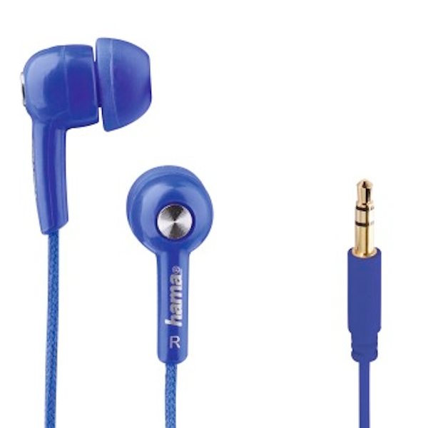 "Hama ""Basic4Music"" in-ear stereo earphones, blue"