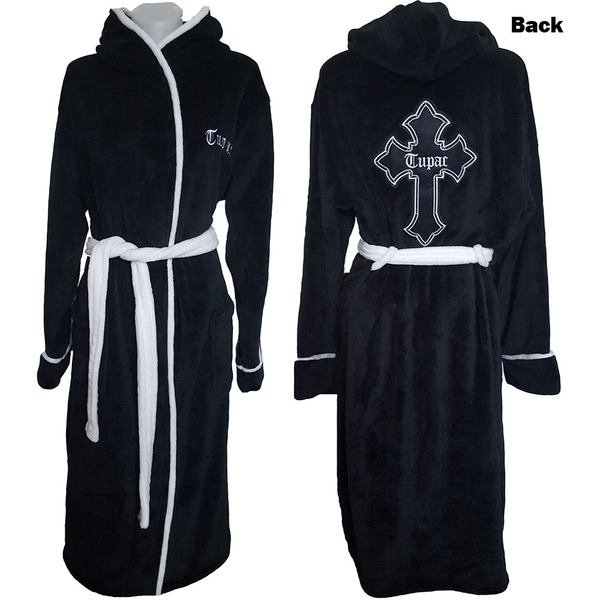 Tupac - Cross Unisex Bathrobe - Black