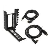 CableMod Vertical Graphics Card Holder with PCIe x16 Riser Cable 2 x DisplayPort - Black