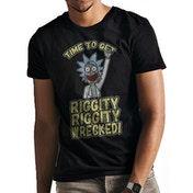 Rick And Morty - Riggity Wrecked Men's XX-Large T-shirt - Black
