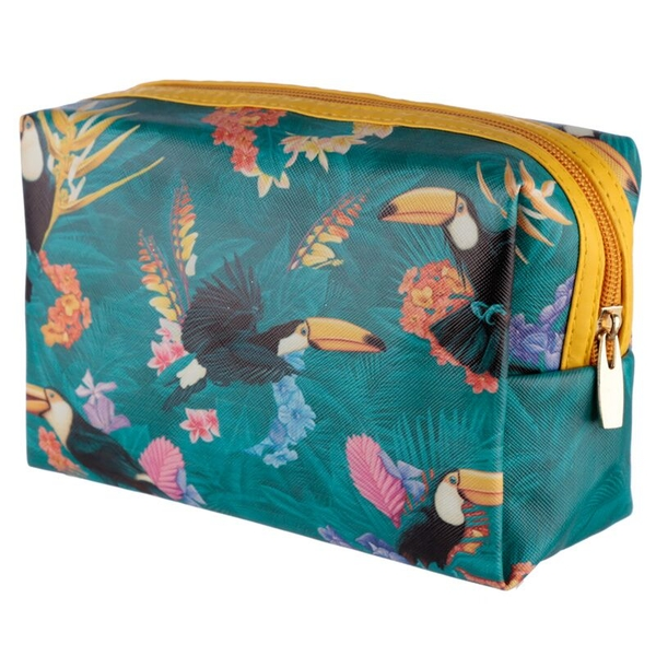 Tropical Toucan Design Handy PVC Make Up Toiletry Wash Bag