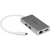 StarTech USB-C Multiport Adapter for Laptops - Power Delivery - 4K HDMI - GbE - USB 3.0 - Silver & White