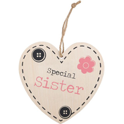 Special Sister Hanging Heart Sign