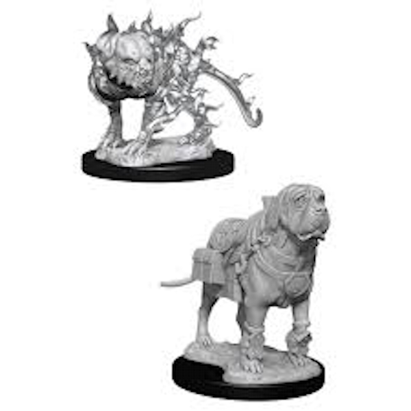 Dungeons & Dragons Nolzur's Marvelous Unpainted Miniatures (W11) Mastif & Shadow Mastif