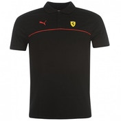 Puma Ferrari Polo Shirt Black Large Black