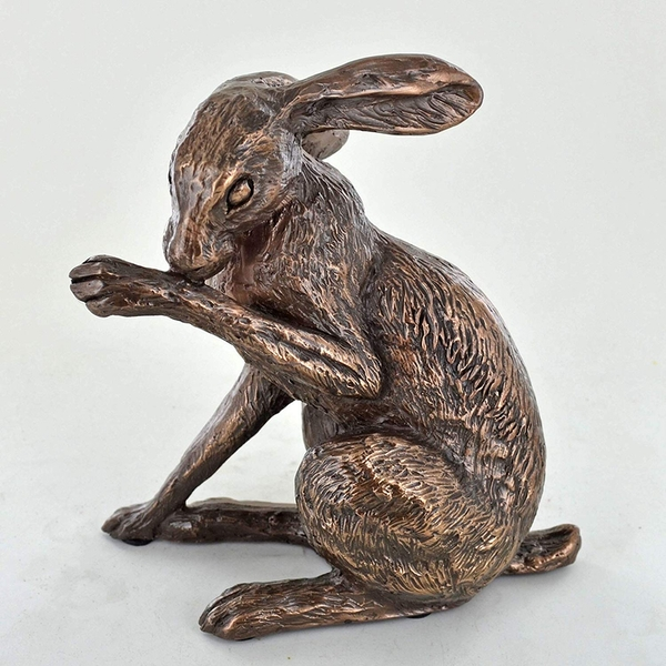 Heather Hare by Harriet Glen Cold Cast Bronze Sculpture 15cm