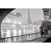 Paris Eiffel Tower Kiss Poster