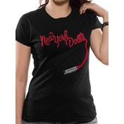 New York Dolls - Lipstick Women's Small T-Shirt - Black