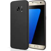 Samsung Galaxy S7 Edge Matte Silicone Gel Case - Black