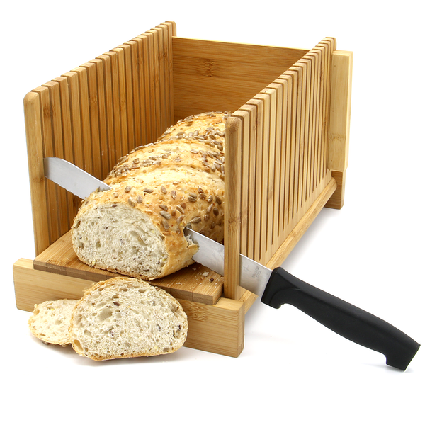Bamboo Bread Slicer Guide With Crumb Catcher | M&W - Image 5