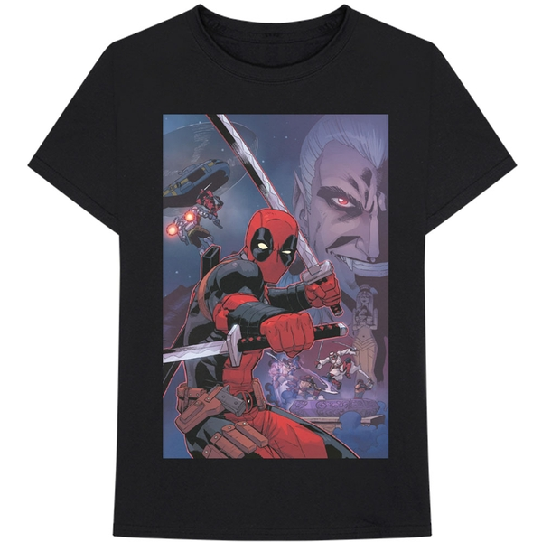 Marvel Comics - Deadpool Composite Men's XX-Large T-Shirt - Black