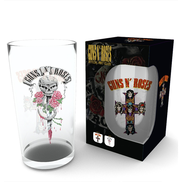 Guns N Roses  Logo Large Glass