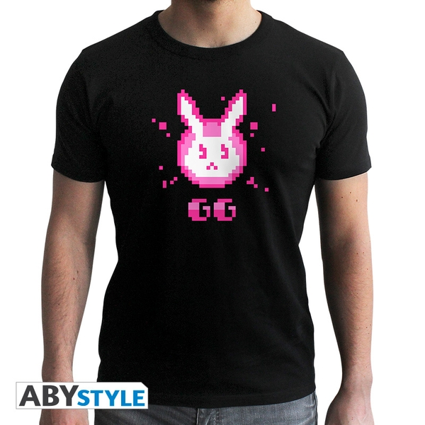 Overwatch - D.Va Gg Men's Small T-Shirt - Black