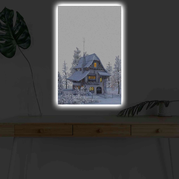 4570KARDACT - 033 Multicolor Decorative Led Lighted Canvas Painting