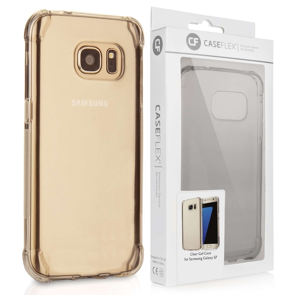 Caseflex Samsung Galaxy S7 TPU Gel Case - Clear (Retail Box)