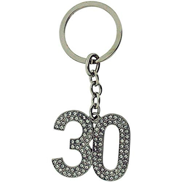 Birthdays by Juliana '30' Crystal Keyring