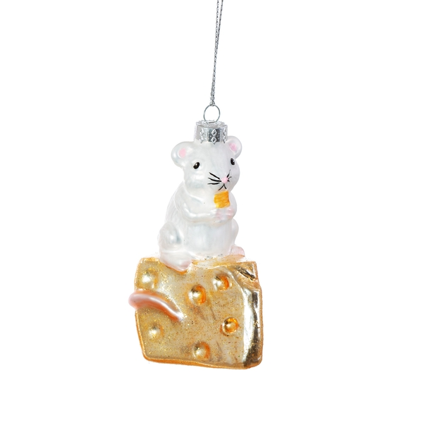 Sass & Belle Mouse on Cheese Shaped Bauble
