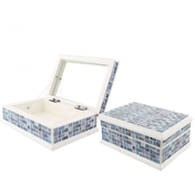 Blue Mosaic Box