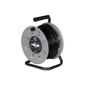 SMJ Electrical 50m 4 Socket Heavy Duty Extension Cable Reel UK Plug