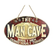 Man Cave Iron Sign by Heaven Sends