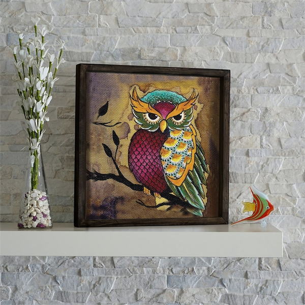 KZM663 Multicolor Decorative Framed MDF Painting