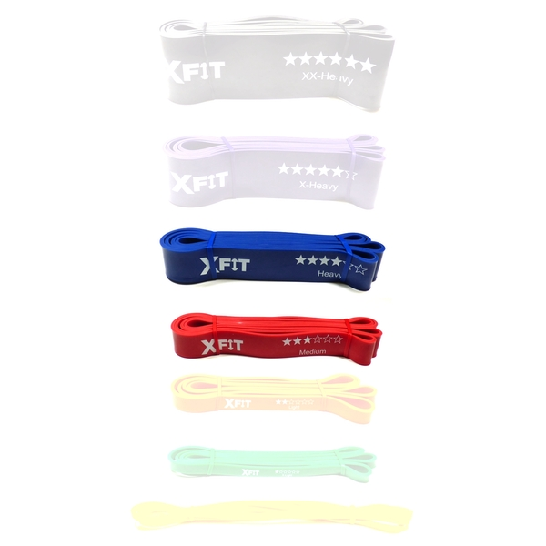 Resistance Loop Bands Crossfit Exercise Strength Weight Training XFit 2 Pack (Medium & Heavy)