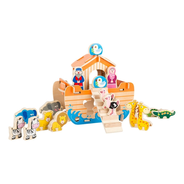 Legler - Small Foot Noah's Ark Wooden Kid's Construction Game (Multi-colour)