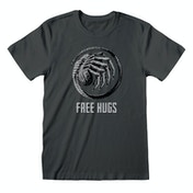 Alien - Free Hugs Unisex Small T-Shirt - Charcoal