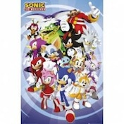 Sonic The Hedgehog Cast Portrait Maxi Poster