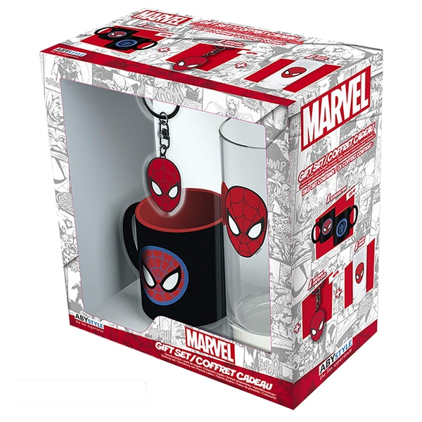 "MARVEL - Glass 29cl + Keyring + Mini Mug ""Marvel Spider-man"""