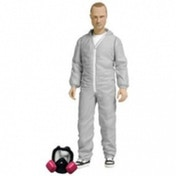 Mezco Breaking Bad Jesse Pinkman White Hazmat Suit Action Figure