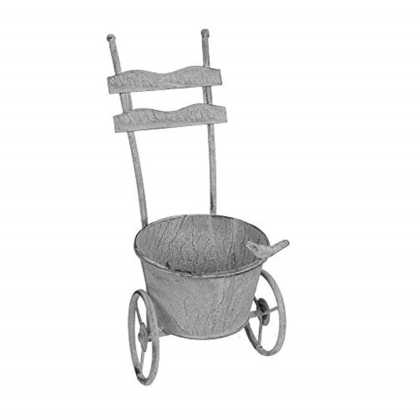 Metal Garden Trolley Planter