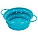 Xavax Colander, made of silicone, foldable, 25.5 cm, blue