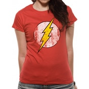 The Flash - Logo Fitted T-shirt Red Small