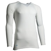 Precision Essential Base-Layer Long Sleeve Shirt Adult White - XXL 48-50 Inch