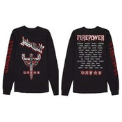 Judas Priest - Emblem City 2018 Firepower Tour Men's X-Large Long Sleeved T-Shirt - Black