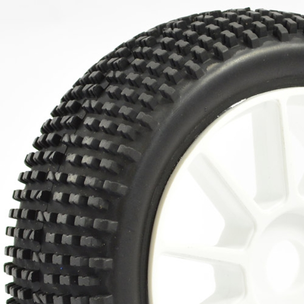 """Fastrax 1/8Th Premounted Buggy Tyres 'H Tread/10 Spoke"""""""