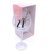 Luxe Birthday Gin Glass with Rose Gold Foil - 21