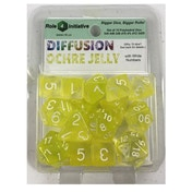 Diffusion Ochre Jelly Poly 15 Set Dice