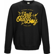 Fall Out Boy Bomb Unisex Medium Crewneck Sweatshirt - Black