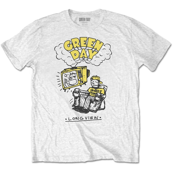 Green Day - Longview Doodle Men's Large T-Shirt - White